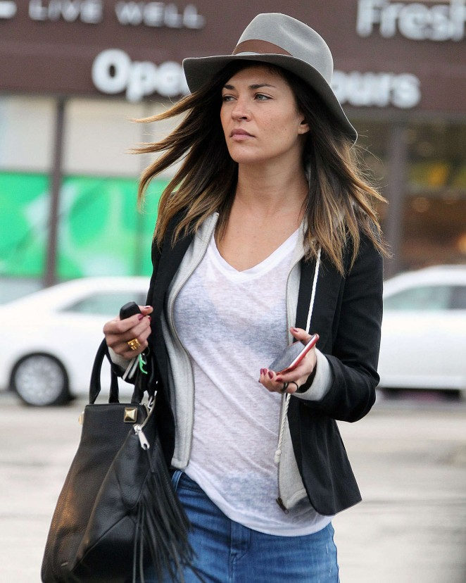 Jessica Szohr in Jeans Shopping in LA