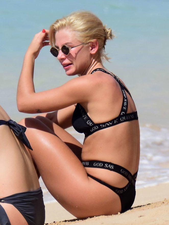 Jessica Woodley in Black Bikini 2017 -16