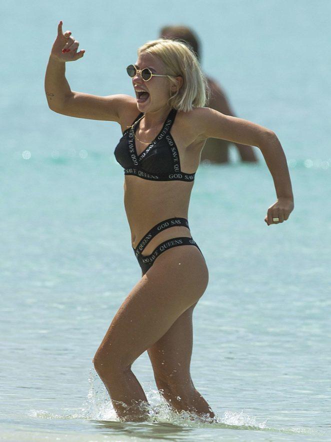Jessica Woodley in Black Bikini 2017 -33