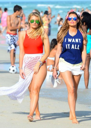 Jessica Wright and Danielle Armstrong - Seen on Miami Beach