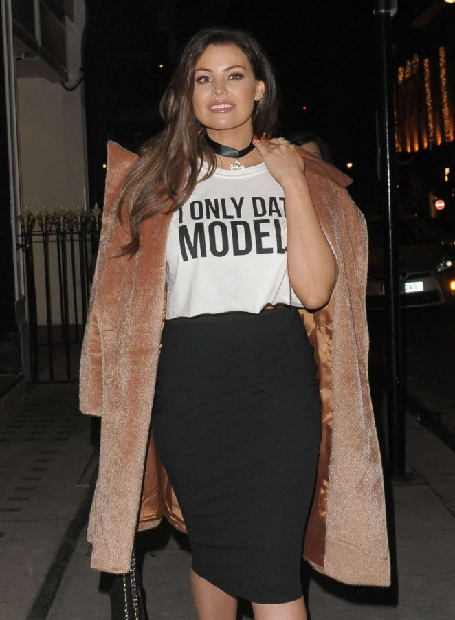Jessica Wright - Arrives at MNKY HSE Restaurant in London