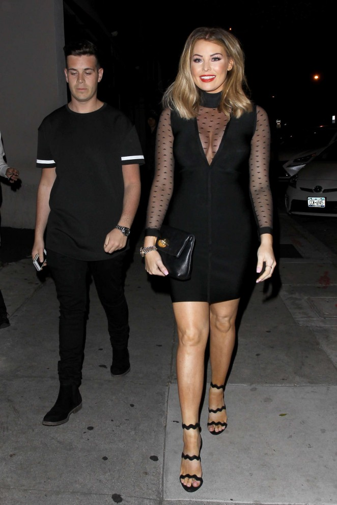 Jessica Wright at Craig's Restaurant in West Hollywood