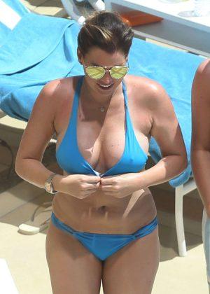 Jessica Wright in Bikini at a pool in Las Vegas
