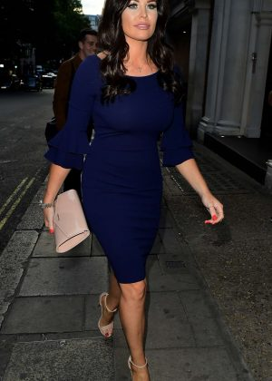 Jessica Wright in Blue Dress at Nobu in London