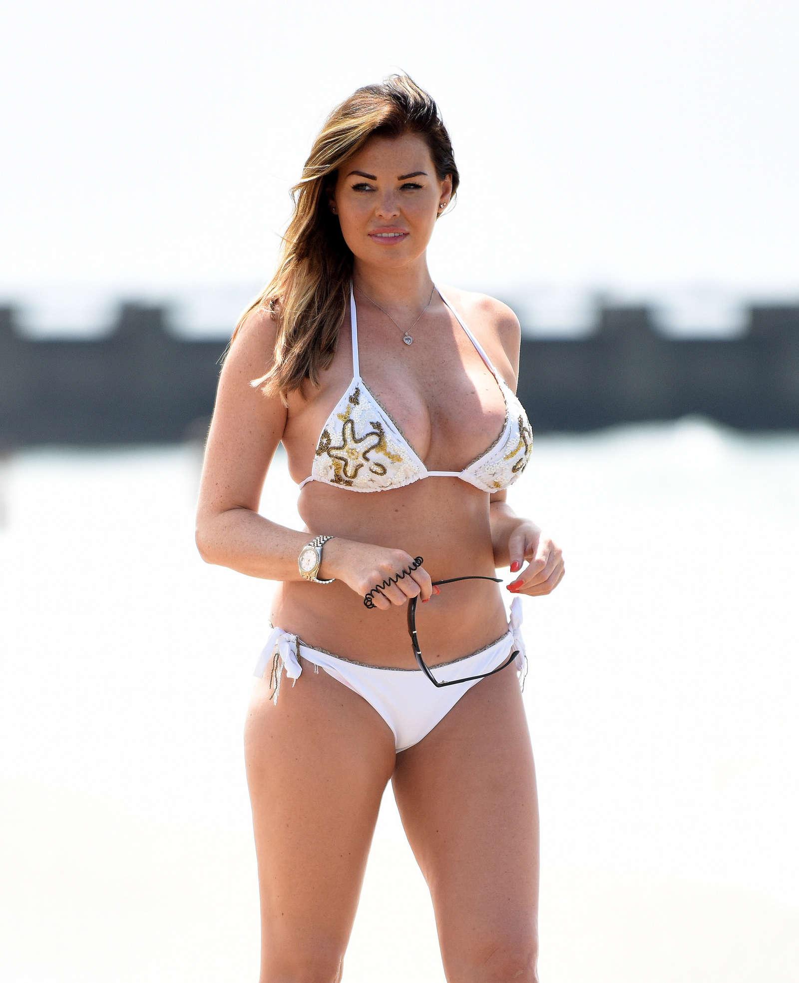 jessica wright in white bikini in los angeles