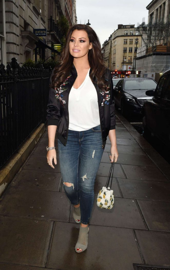 Jessica Wright out for dinner in London