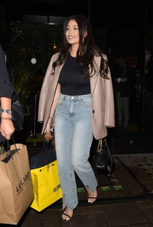 Jessica Wright - Seen at Amazonico restaurant in Mayfair