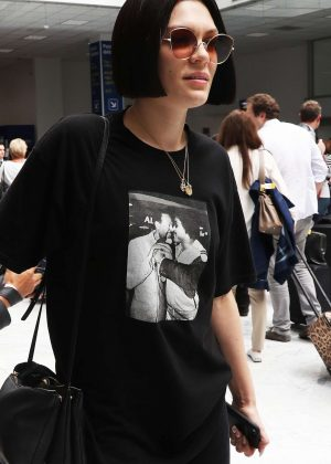 Jessie J Arrives at Nice Airport in Cannes