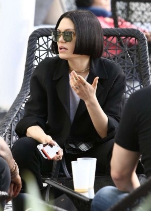 Jessie J at her hotel in Miami