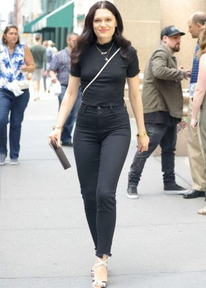 Jessie J heading into a meeting with Benji Madden in NYC