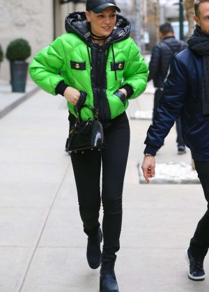 Jessie J in Tight Jeans Out in New York