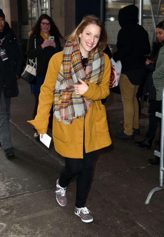 Jessie Mueller Leaves AOL BUILD studios in NYC