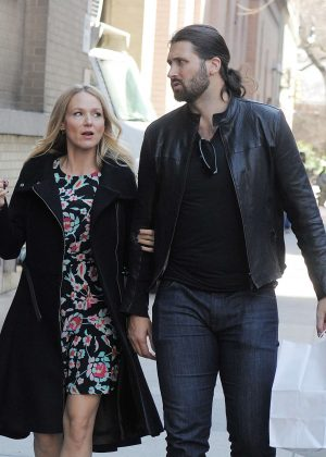 Jewel Kilcher with Charlie Whitehurst out in Manhattan
