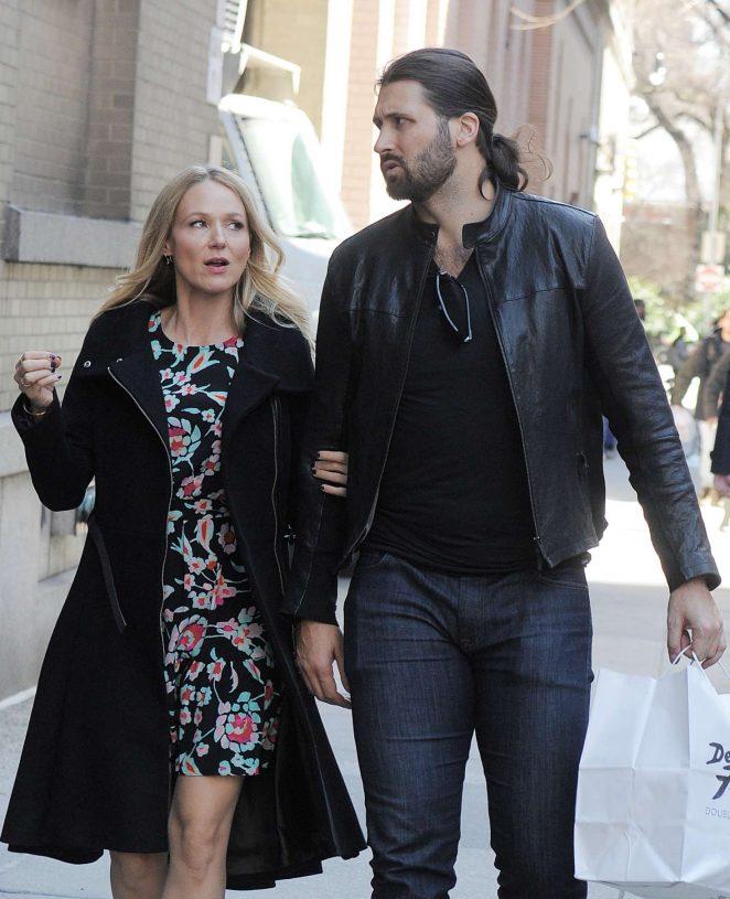 Jewel Kilcher with Charlie Whitehurst out in Manhattan