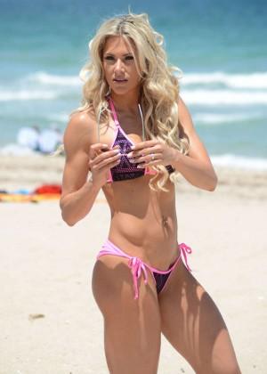 Jill Bunny in Bikini on Miami Beach