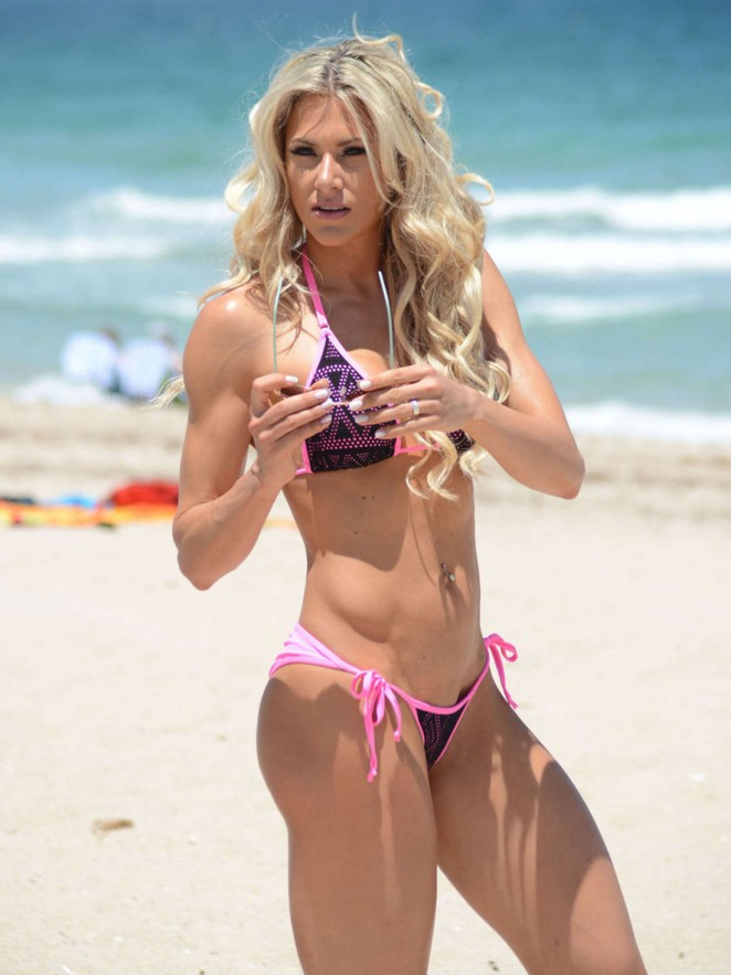 Jill Bunny in Bikini on Miami Beach