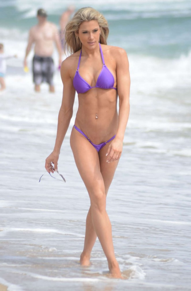 jill bunny in purple bikini  07   gotceleb
