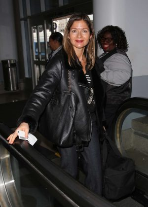 Jill Hennessy at LAX airport in Los Angeles