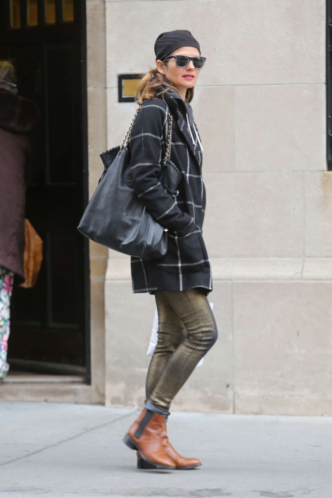 Jill Hennessy out in the West Village