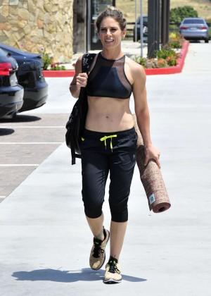 Jillian Michaels in Tights Out in Malibu