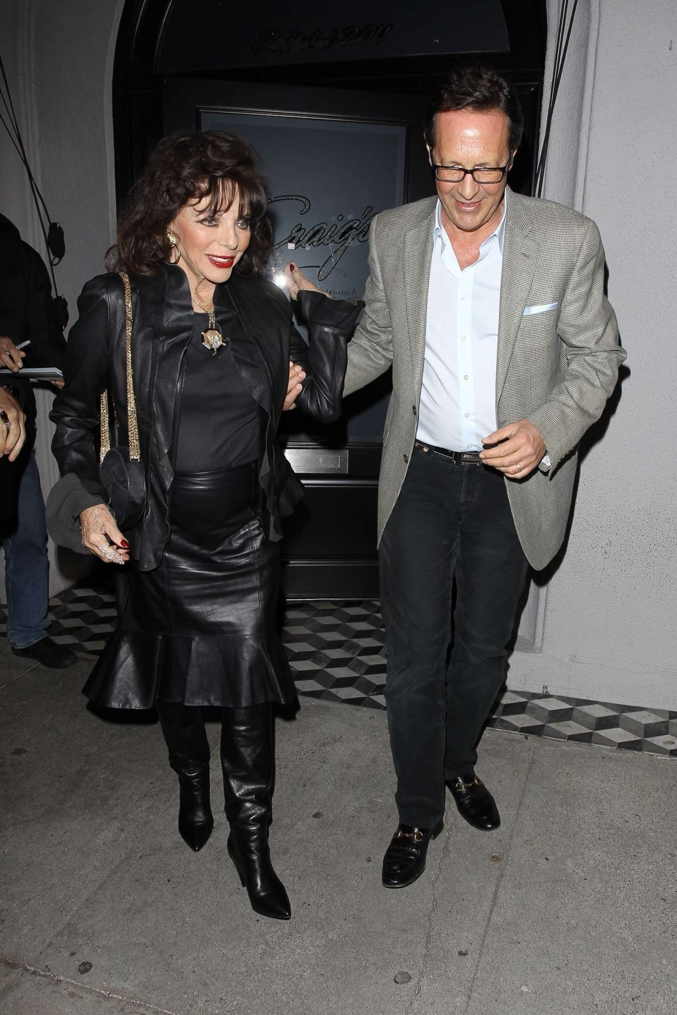 Joan Collins and Percy Gibson date at Craig's