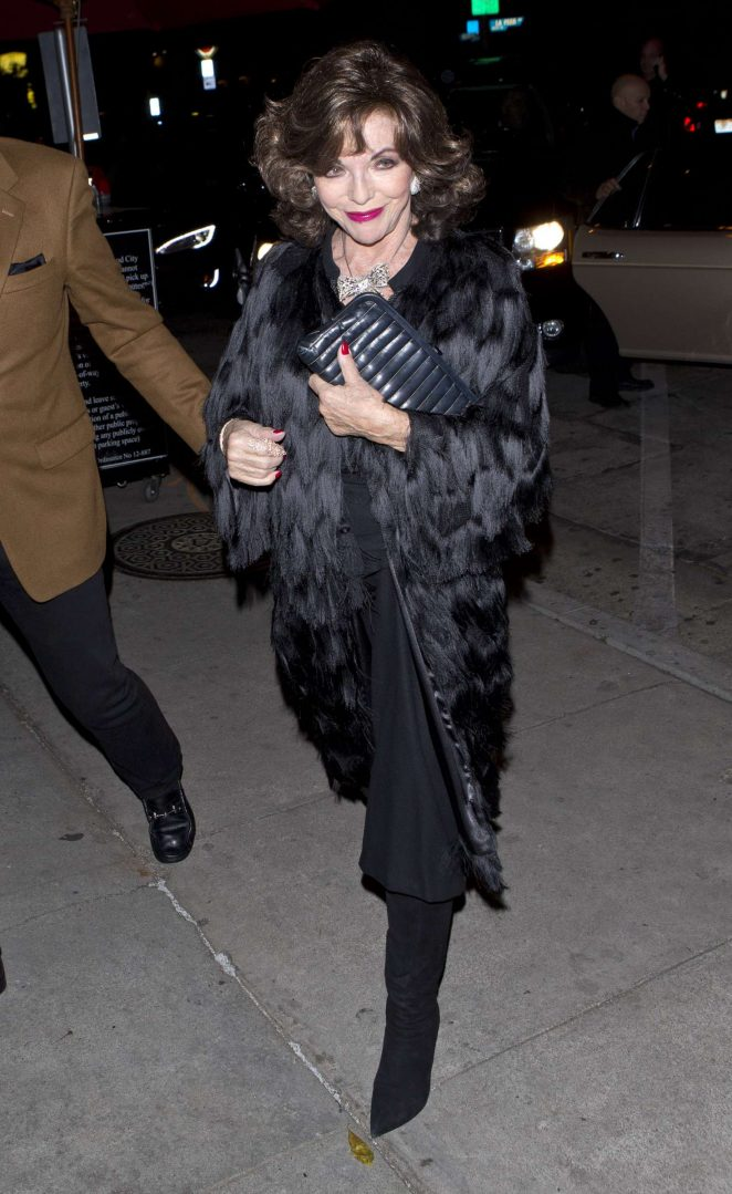 Joan Collins - Arriving at 'Craigs' Restaurant in West Hollywood