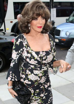 Joan Collins - Arriving at the Victoria and Albert Museum Summer Party in London