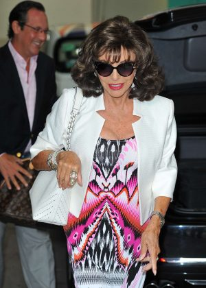 Joan Collins - Arrving at the ITV Studios in London