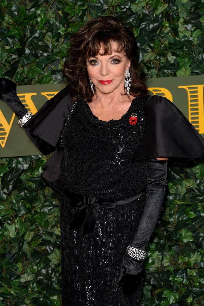 Joan Collins - Evening Standard Theatre Awards 2016 in London