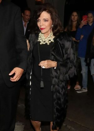 Joan Collins - Leaving Craig's in West Hollywood