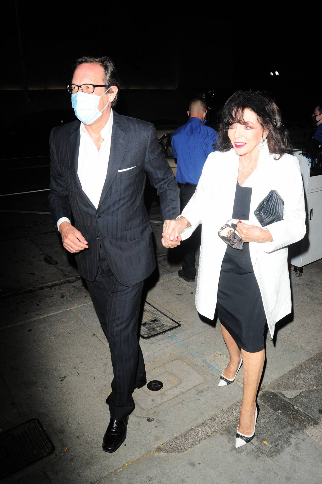 Joan Collins - Seen while out for a dinner at Craig's in West Hollywood