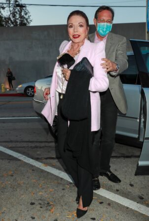 Joan Collins - With Rita Lee out for dinner in West Hollywood