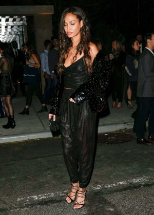 Joan Smalls - Arrives at Harry Josh's Met Gala pre-party in NY