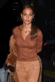 Joan Smalls - Arriving at the Royal Monceau Hotel in Paris