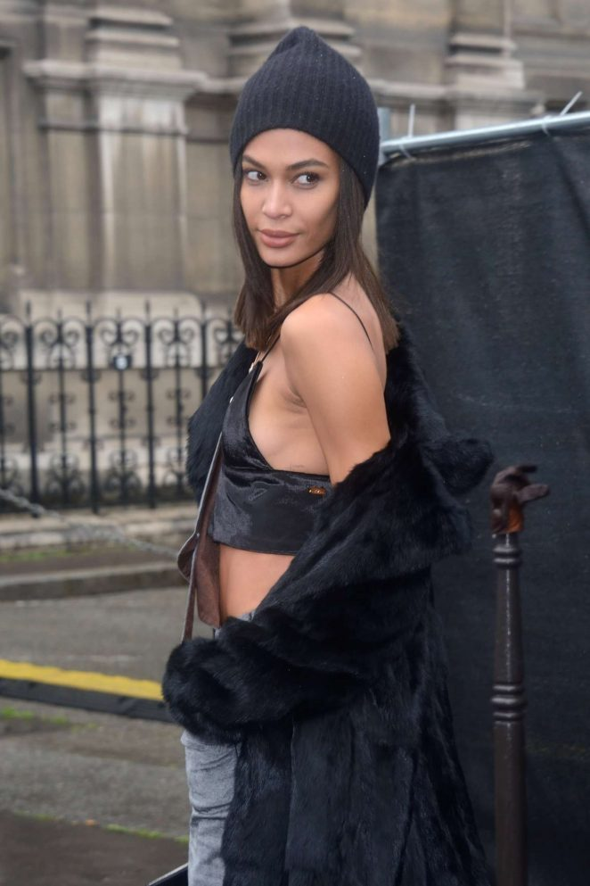 Joan Smalls at Lanvin Show at 2017 PFW in Paris
