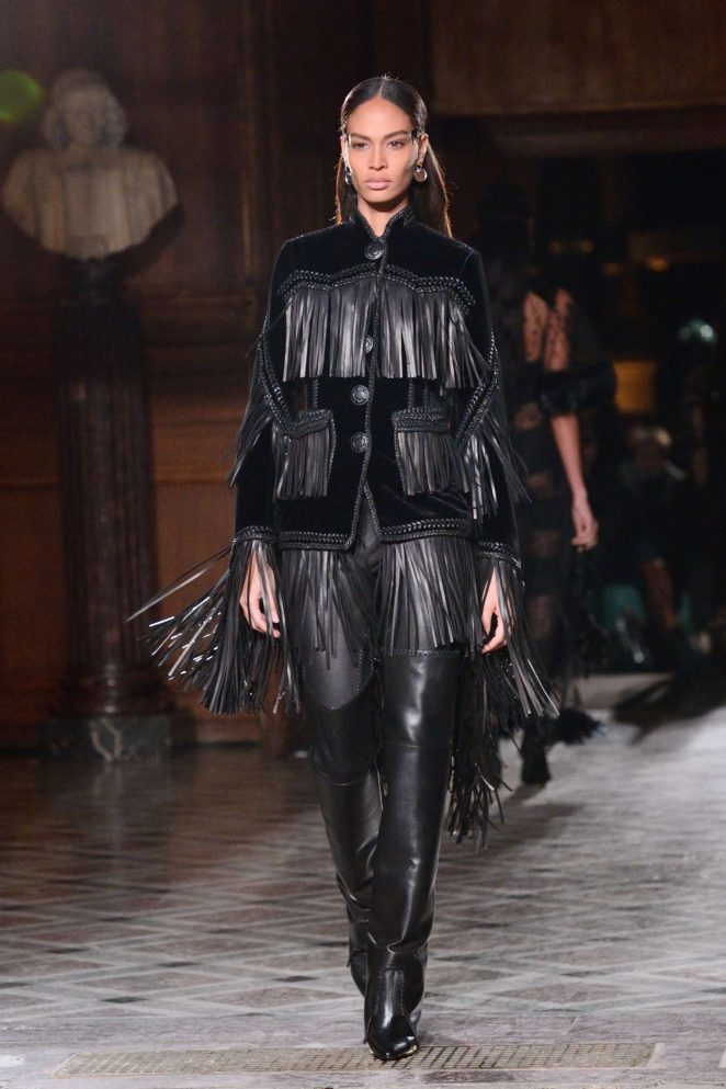 Joan Smalls – Givenchy Menswear Fall/Winter 2017-2018 Show in Paris