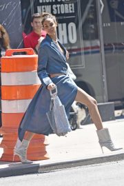 Joan Smalls - On a photoshoot in New York City