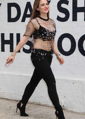Joanna JoJo Levesque at 'Good Day New York' in New York City