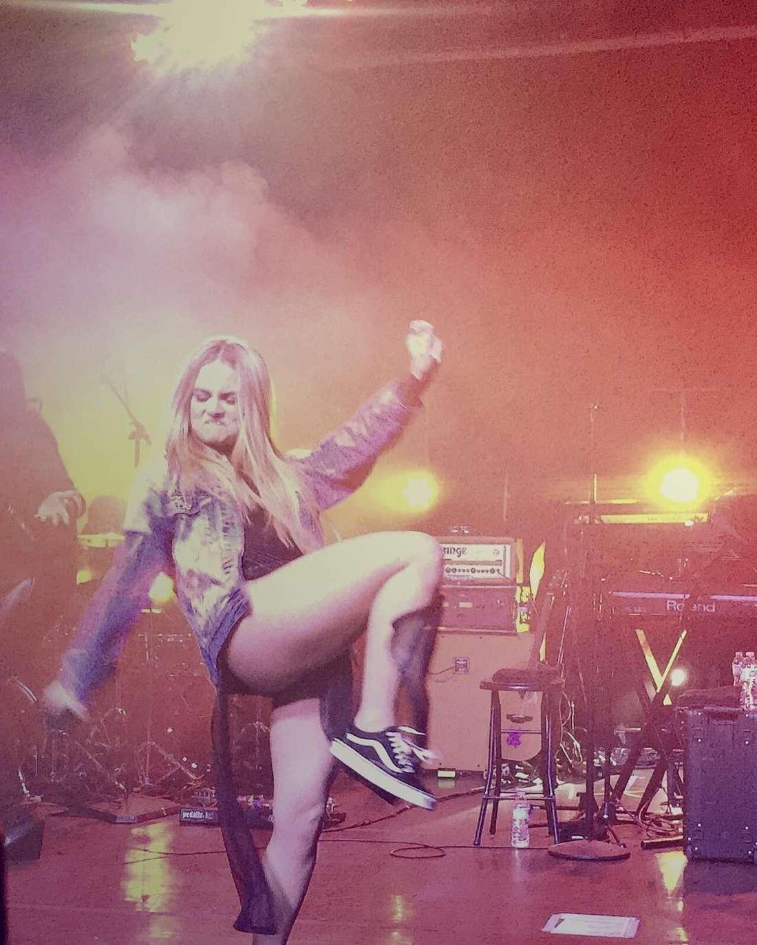Joanna Jojo Levesque Performs at Mad Love Tour in Santa Ana