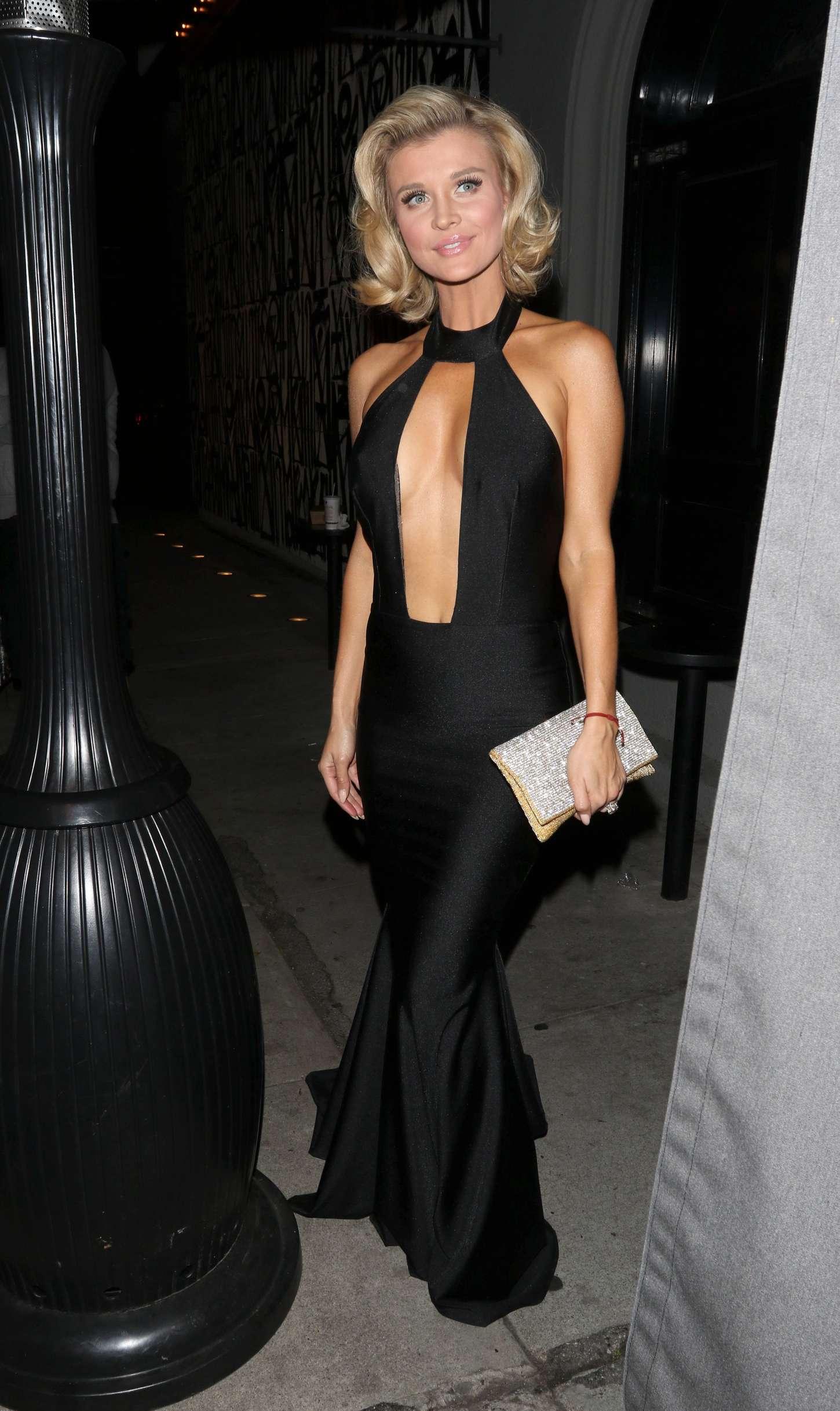 Joanna Krupa In Black Dress At Craigs 04 Gotceleb