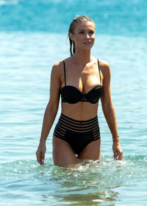 Joanna Krupa in Bikini at the beach in Mykonos