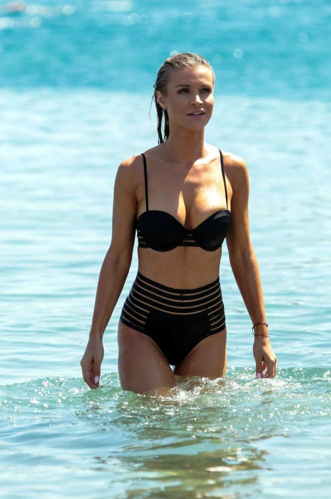 Joanna Krupa in Bikini at the beach in Mykonos