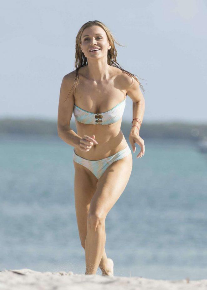 Joanna Krupa in Bikini on Miami Beach