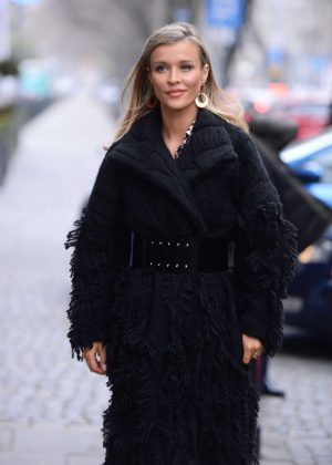 Joanna Krupa in Black Coat - Out in Warsaw