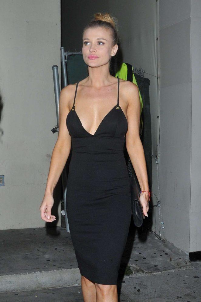 Joanna Krupa In Black Dress At Catch La In West Hollywood Gotceleb