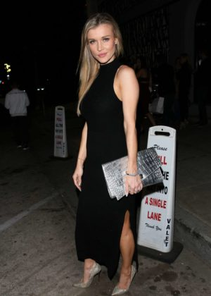 Joanna Krupa in Black Dress at Craig's Restaurant in West Hollywood