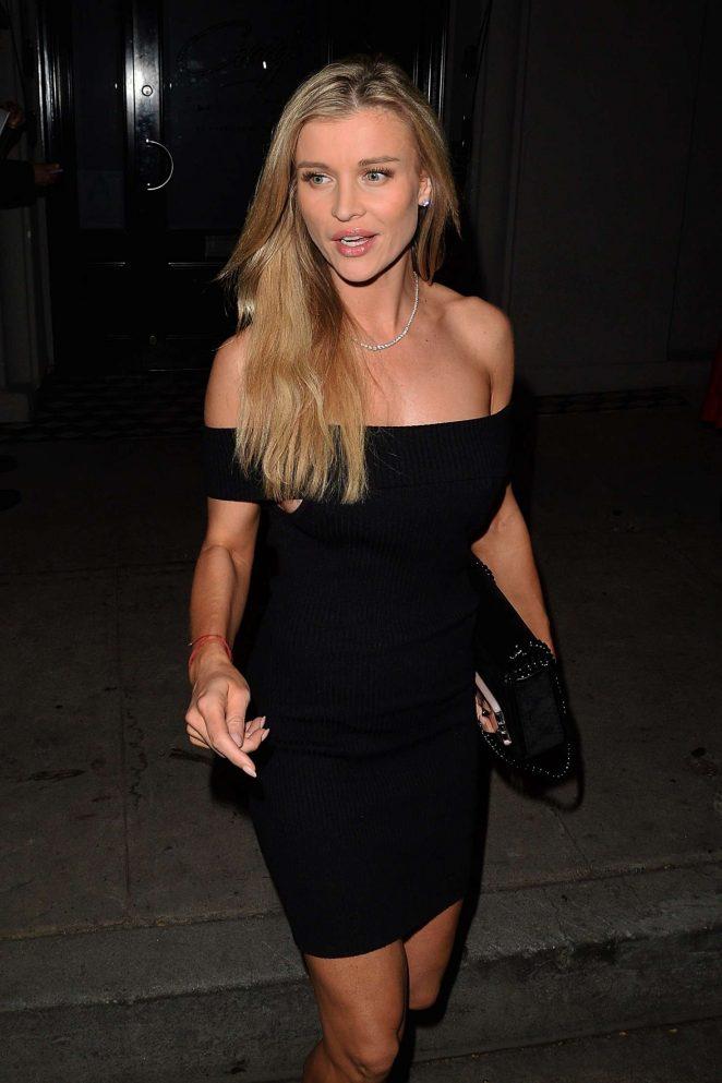 Joanna Krupa in Black Mini Dress at Craig's restaurant in West Hollywood
