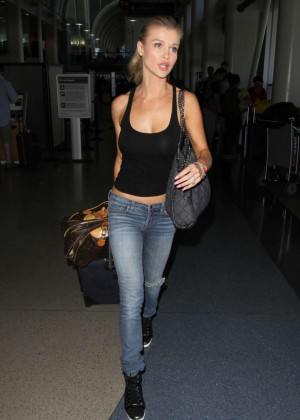 Joanna Krupa in Jeans at LAX Airport in LA