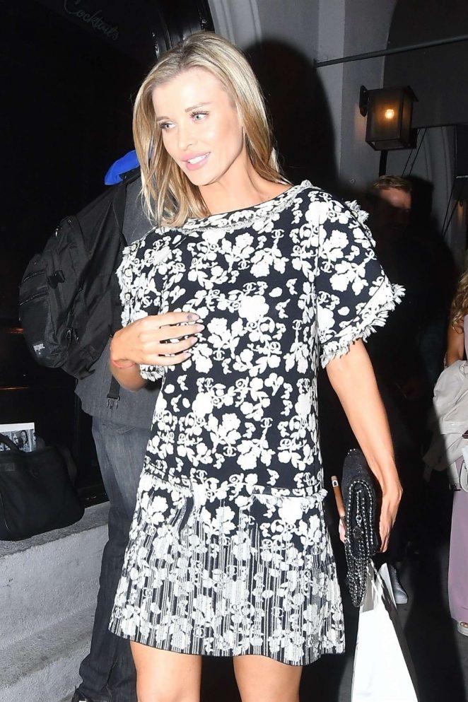 Joanna Krupa in Mini Dress at Craig's in Los Angeles