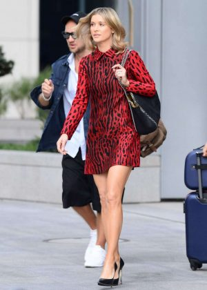 Joanna Krupa - In mini dress Out In Warsaw
